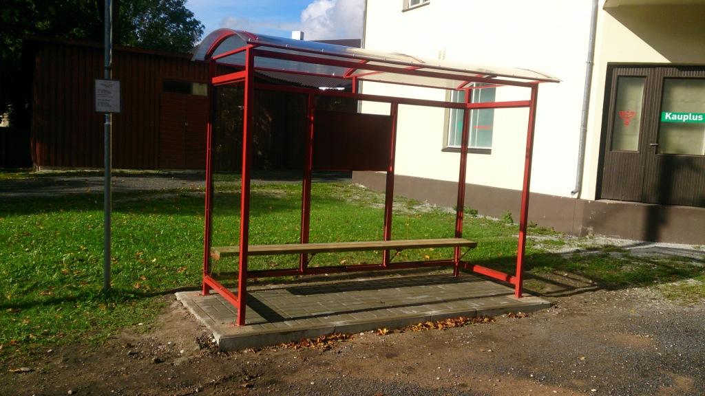 Bussiootepaviljon punane
